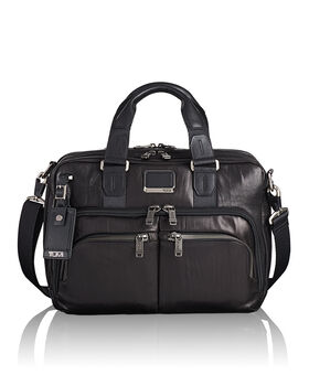 Porte-documents mince en cuir Albany Alpha Bravo